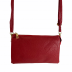 LARGE 5 COMPARTMENT CROSSBODY OR WRISTLET - RED