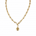 BALL PENDANT NECKLACE - GOLD
