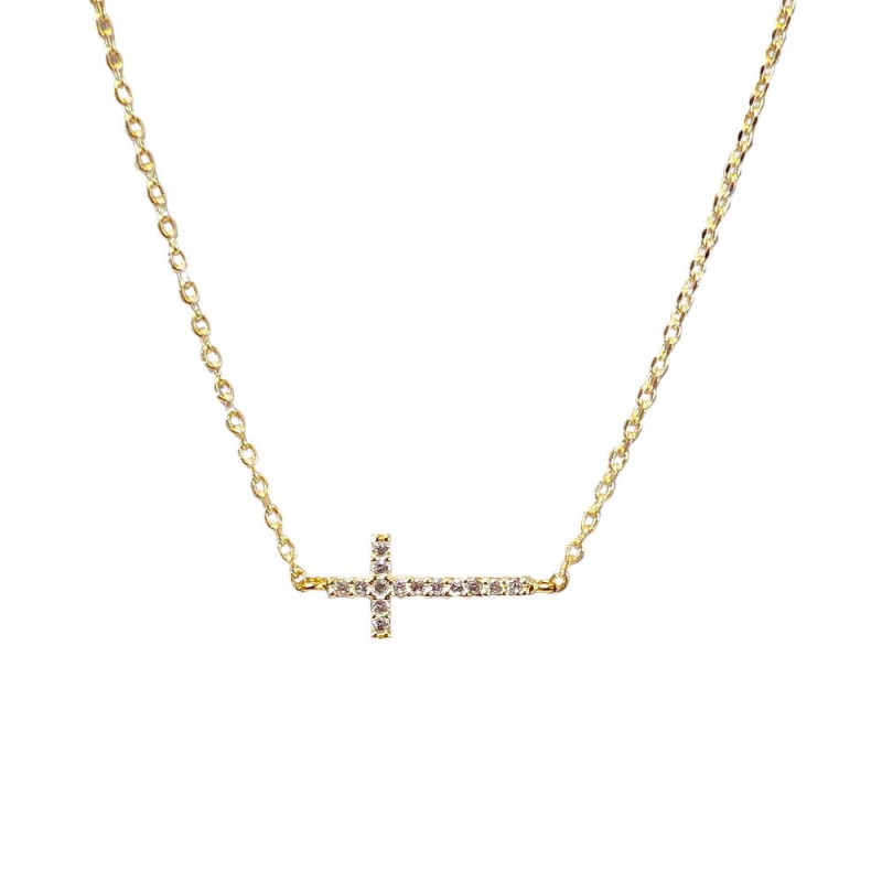 18 K CROSS NECKLACE - GOLD