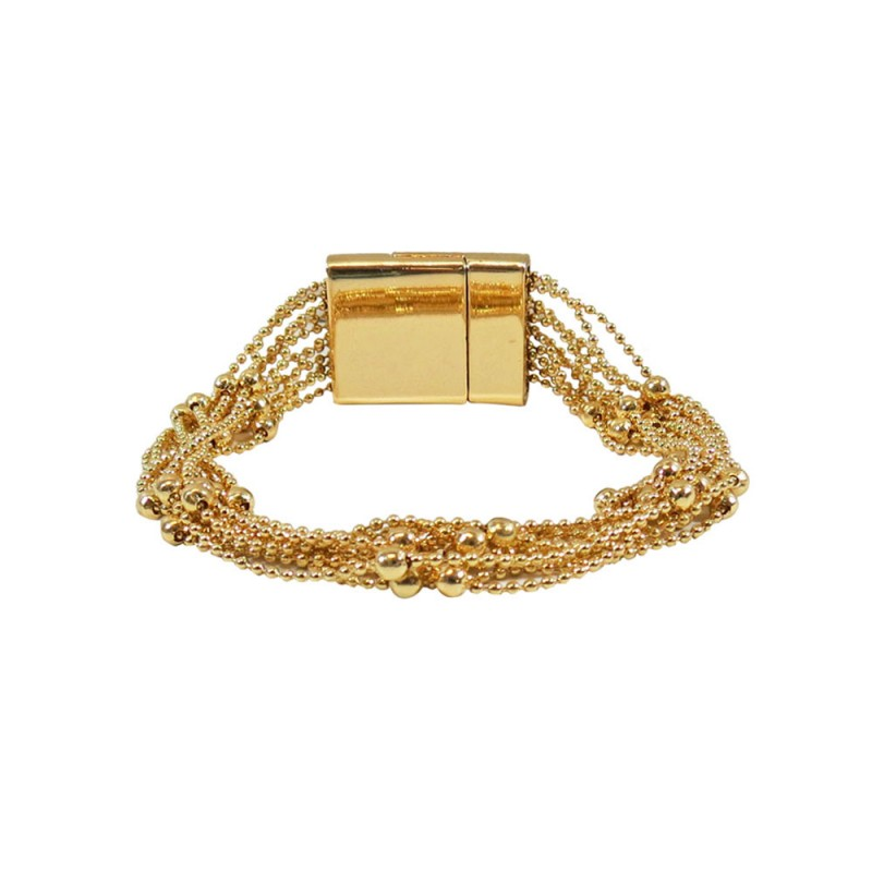 MULTI LAYERED DAINTY BEADED BRACELET - GOLD